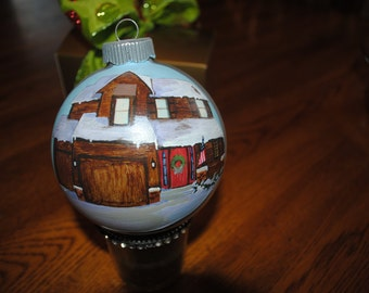 Custom New or First Home Hand Painted Ornament  ----- sold