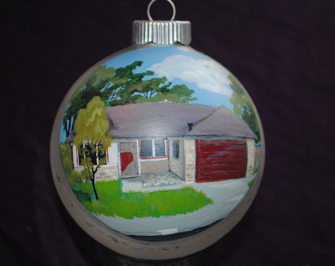 Unique hand painted Home Painted from Picture for Christmas or Housewarming gift - sold