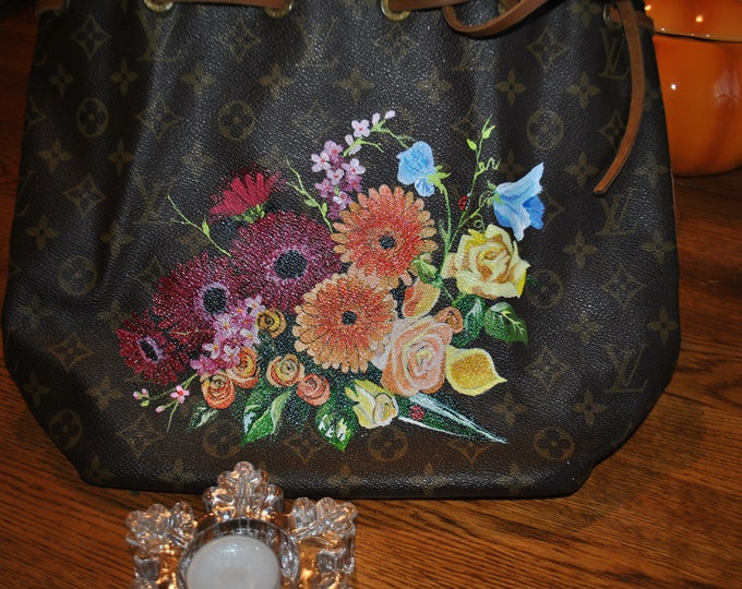 LV Hand Painted Flowers - sorry sold