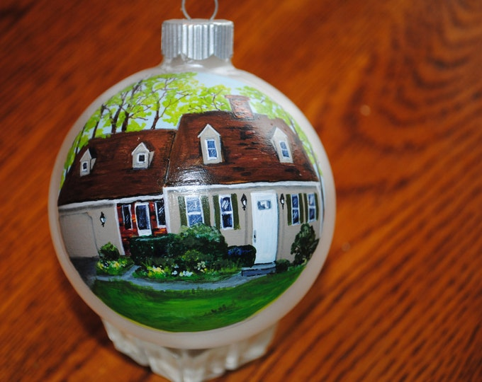 Custom Hand Painted Ornament GREAT for house warming gift or special occasion - Sold
