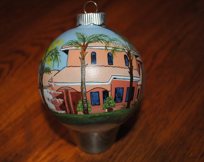 Custom Hand Painted Ornament great for Christmas or any special occasion -SOLD just for display