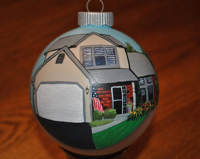 Custom hand painted home ornament  sold