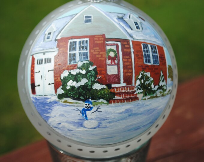 Unique Hand painted Home hand painted from picture for Christmas or Housewarming gift - Sold