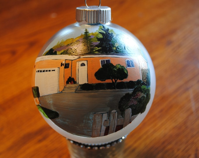 Custom Hand Paint Home Ornament done from picture...  sold