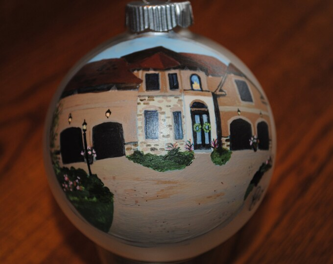 Custom House warming gift. Hand painted ornament done from picture -sold