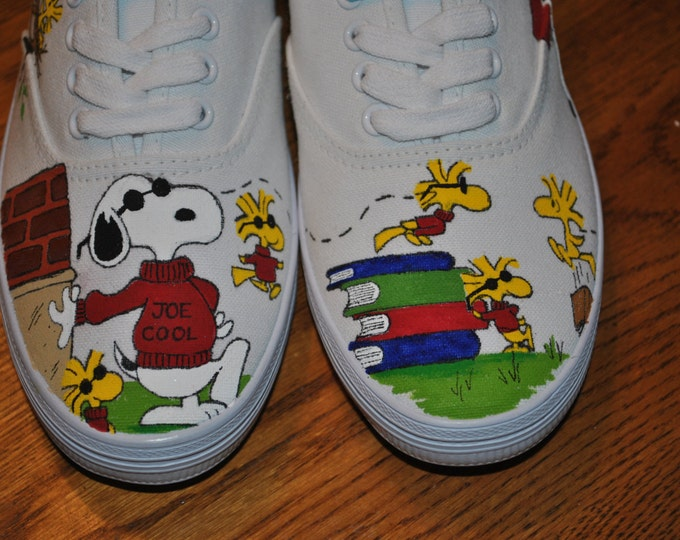 Joe Cool Snoopy Hand Painted sneakers size 7 - SOLD