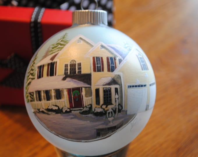 Hand Painted Home Ornament done from picture great for housewarming gift