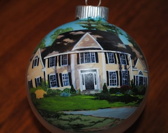 Custom Home Hand Painted Ornament Great Housewarming gift - sold