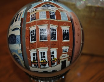 "Custom Row House Ornament ""Our First Place""  - sold just for display"