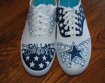 Dallas Cowboys Sneakers size 8  - sold note: these are just a sample