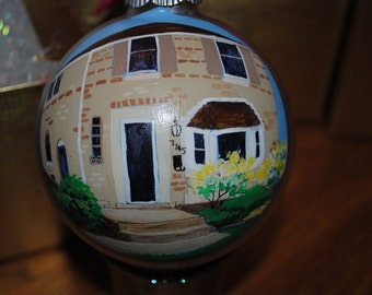 New Custom Hand Painted Home Ornament done from picture  - sold
