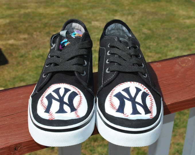 NY YANKEE Hand Painted Sneakers size 8 Punkrose sneakers sorry sold