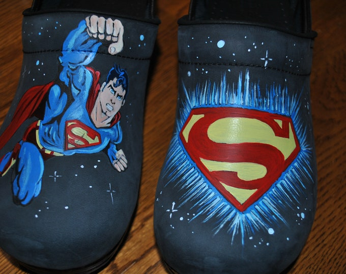 Custom superman Nurses shoes... so sorry just a sample of what can be done. shoes are not included this amount is just for painting