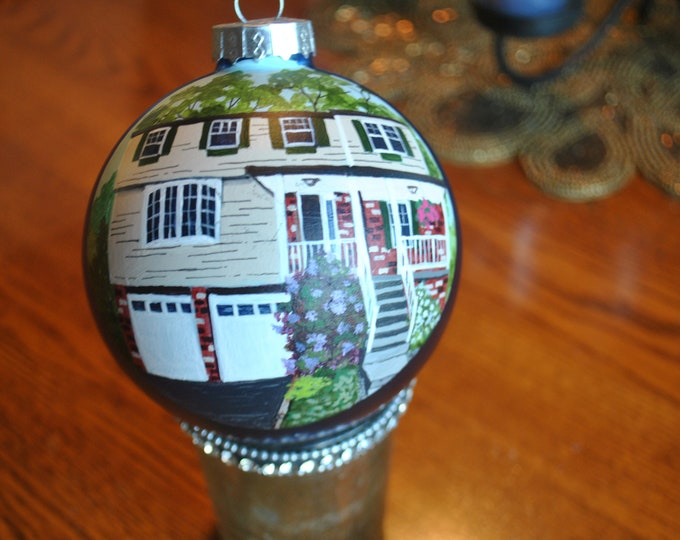 Great Housewarming gift.. hand painted home ornament,  sorry sold hand painted ornament