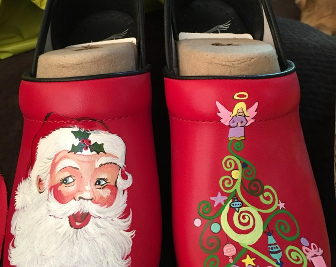 Custom Hand painted Christmas Dansko's  shoes included in price... Have a very Merry Christmas Nurses and Patients----- sold