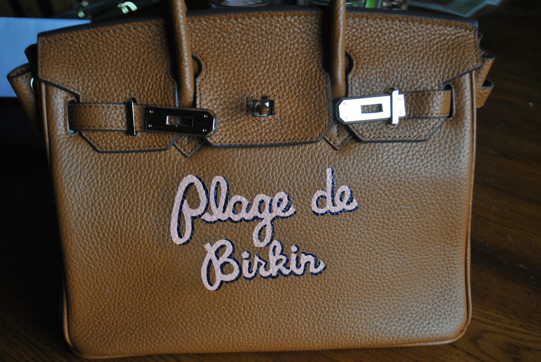 495db24ea9da Custom Hand Painted Birkin Bag Plage de Birkin french for Beach Birkin -  customer provided the bag - sold. gallery photo ...