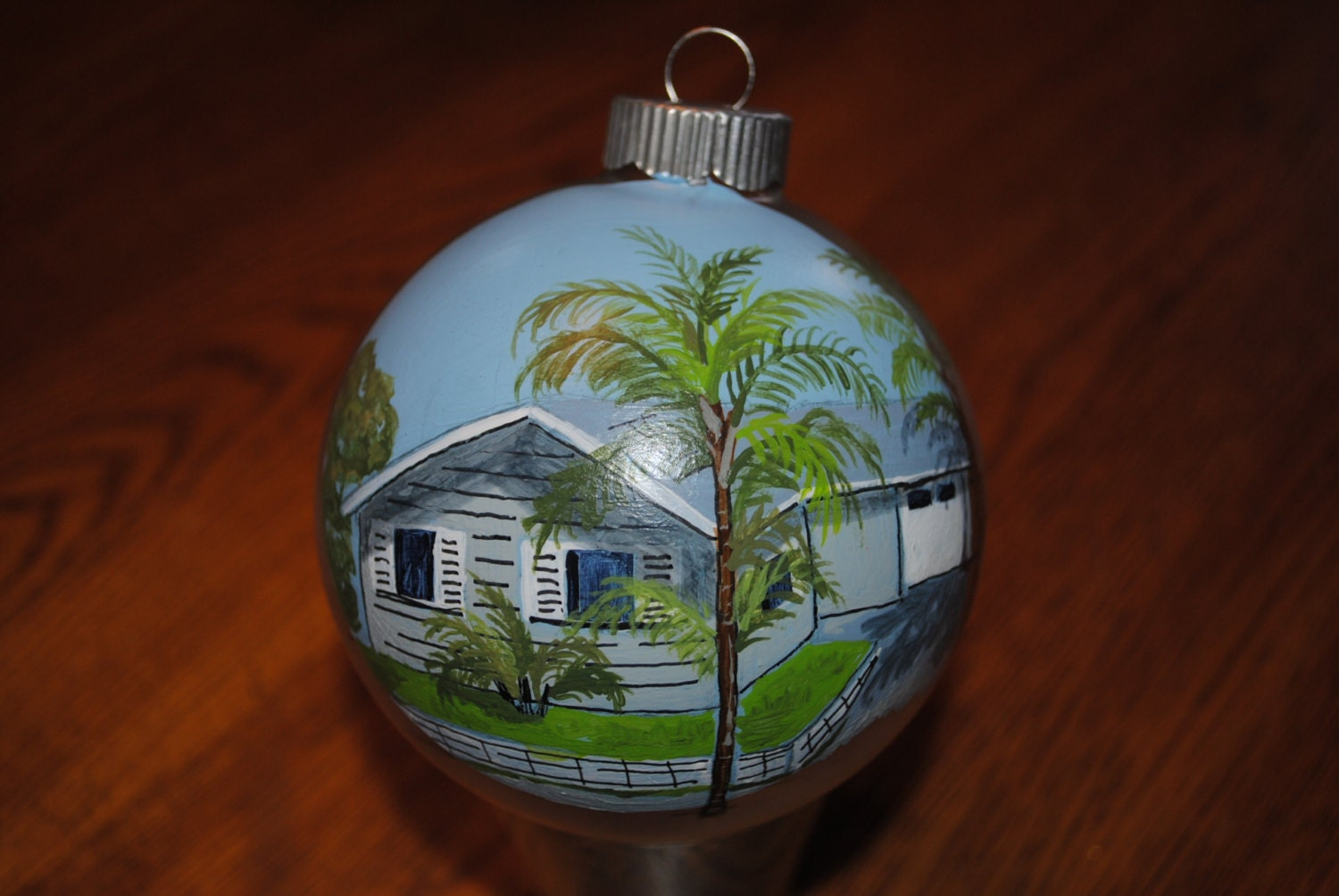 Custom Hand Painted Christmas Ornament Sold This Is Just For Display