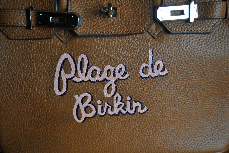 68e20ea78634 Custom Hand Painted Birkin Bag Plage de Birkin french for Beach Birkin -  customer provided the bag - sold