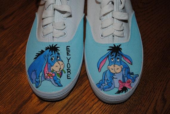 New Custom Hand painted shoes Eeyore