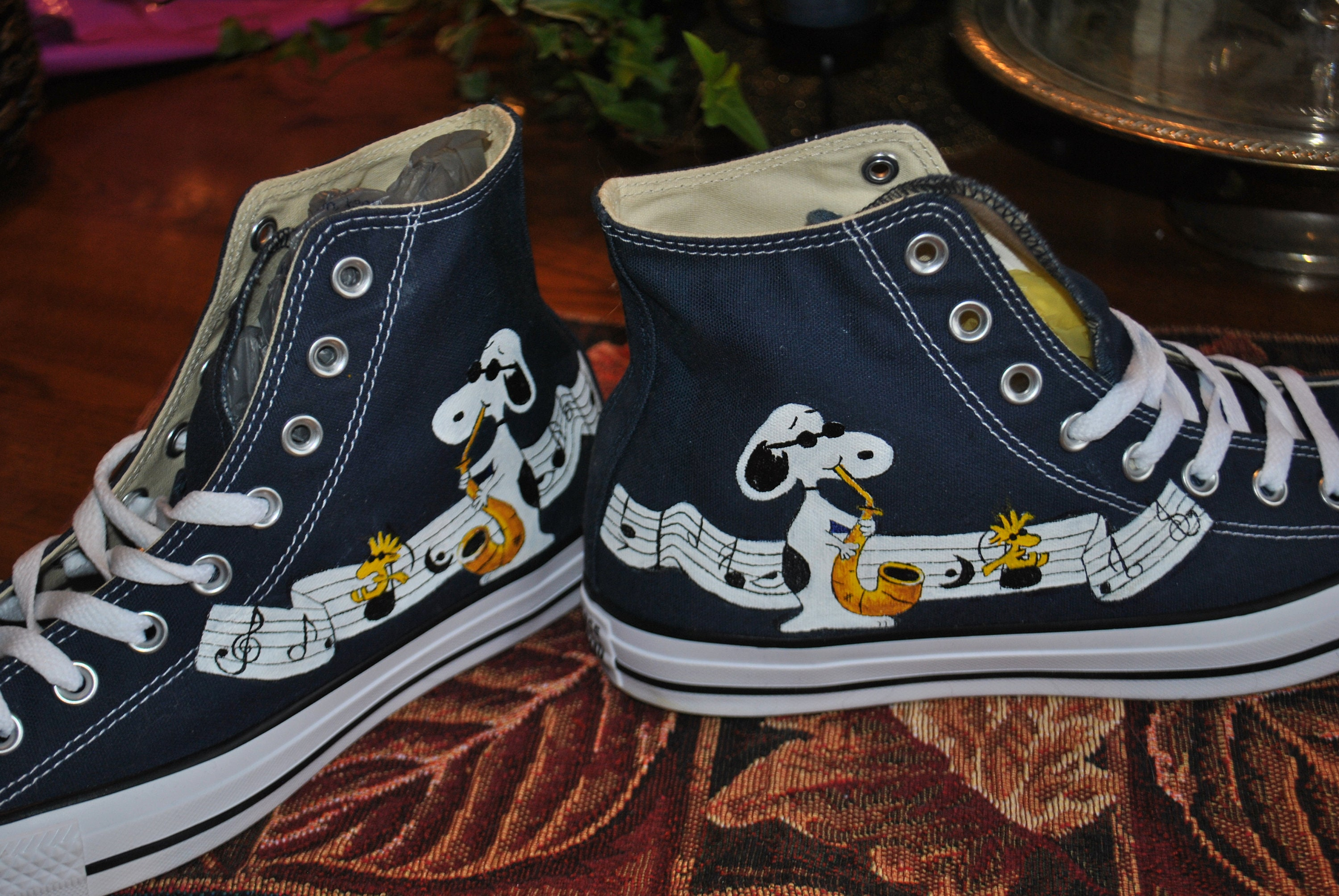 e3026da5fb0c6 Custom Hand Painted High Tops Chuck taylor by converse shoes - sold
