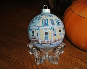 Custom Hand Painted Ornament - sold