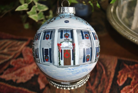 sold Custom  Hand Painted New Home Ornament