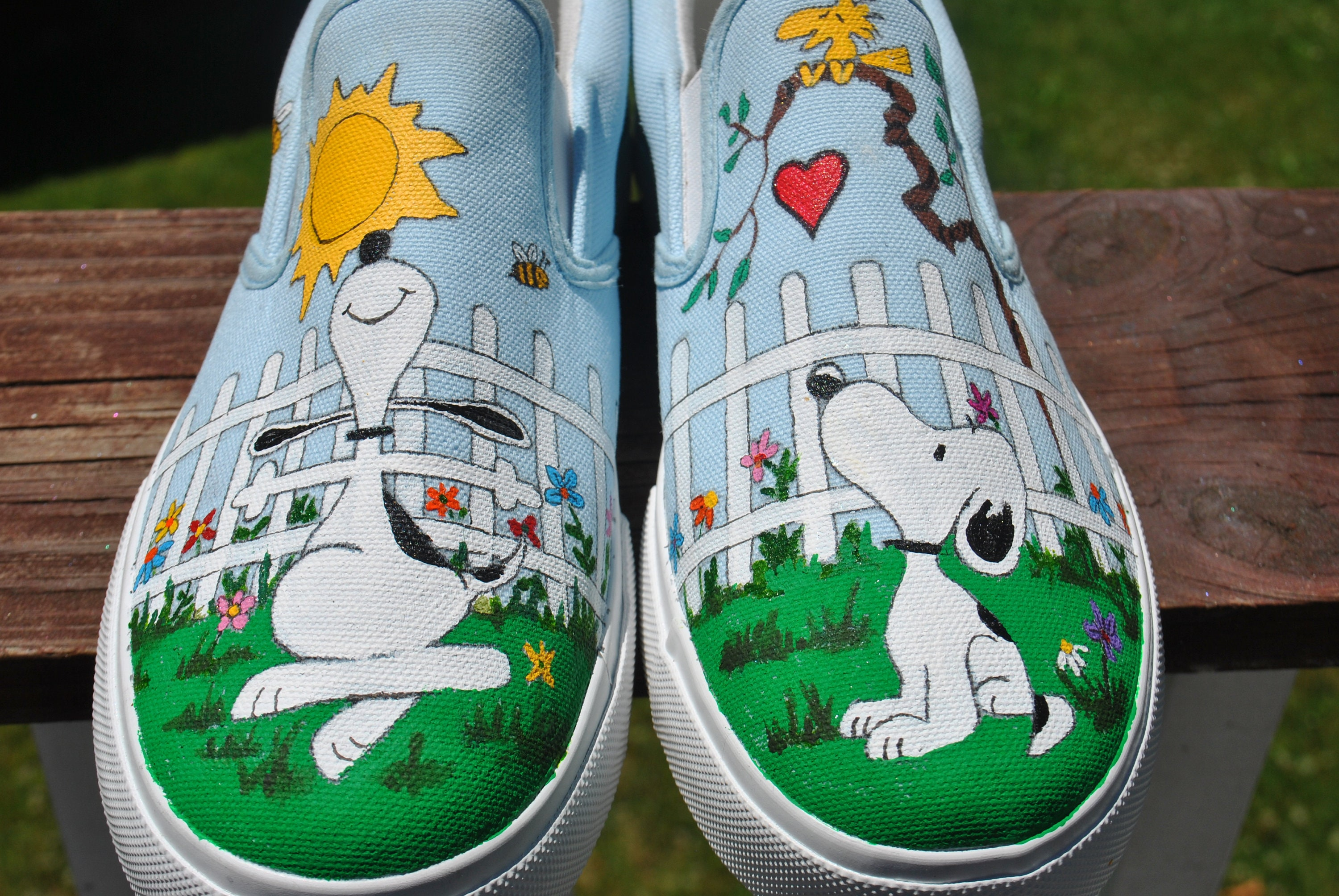 Snoopy custom hand painted vans sneakers snoopy shoes sorry sold jpg  3000x2008 Hand painted snoopy shoes 0e53a2fde