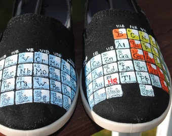 New Periodic Table Shoes with Quote... special order - sold