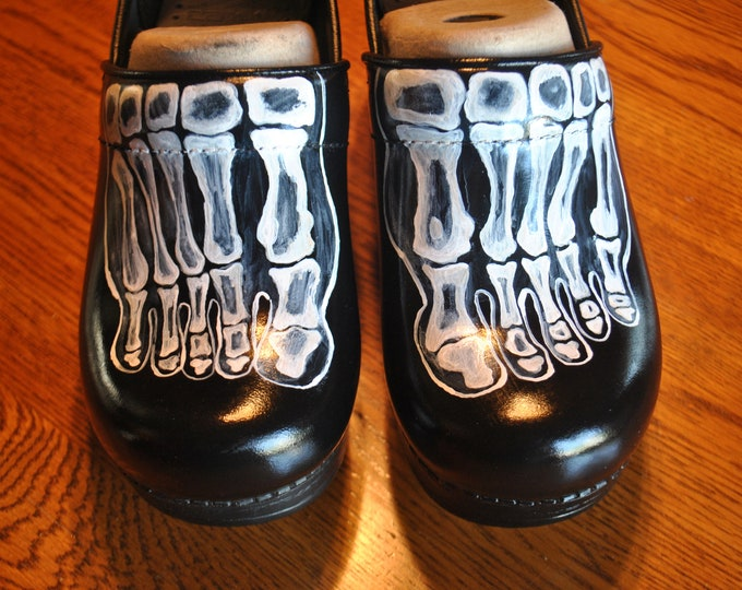 X ray Tech Feet Bones Nursing Shoes  - sold