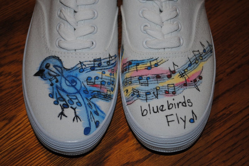 Bluebirds Fly over the Rainbow Shoes custom order - sold note this is just  a sam... Bluebirds Fly over the Rainbow Shoes custom order - sold note this  is ... 57dc72f51