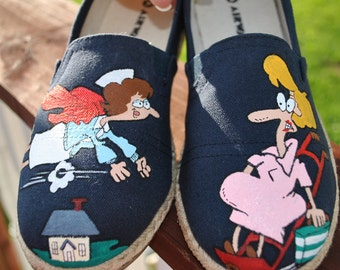 HEEEEEEEEY  Labor and Delivery NURSES these funny little shoes are for you.  size 7 -SOLD