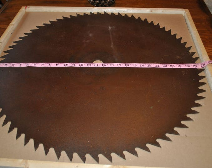 """Antique Saw Blade that can be painted 28"""" saw blade very nice - painting included in the price."""