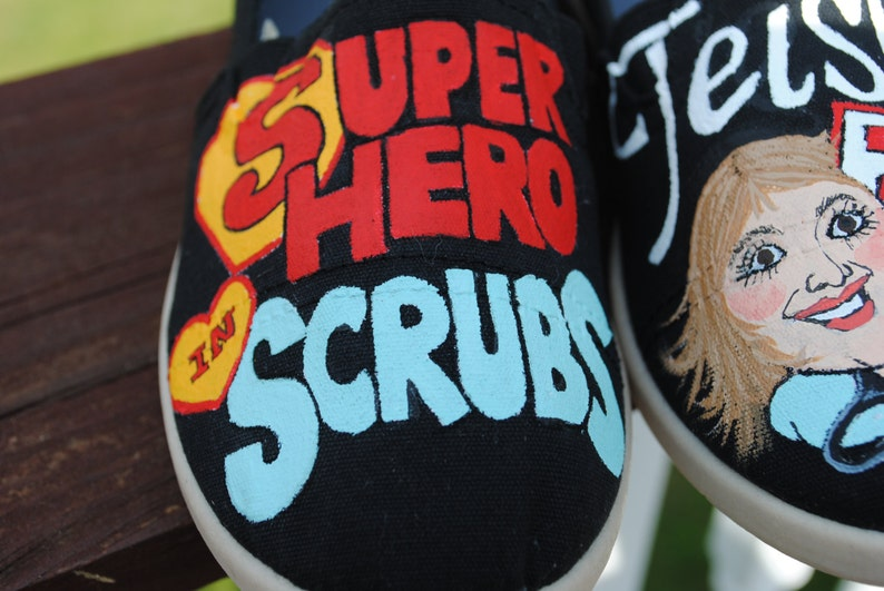 Super Hero in Scrubs...RN....size 5 sorry sold Nursing shoes for you ladies...