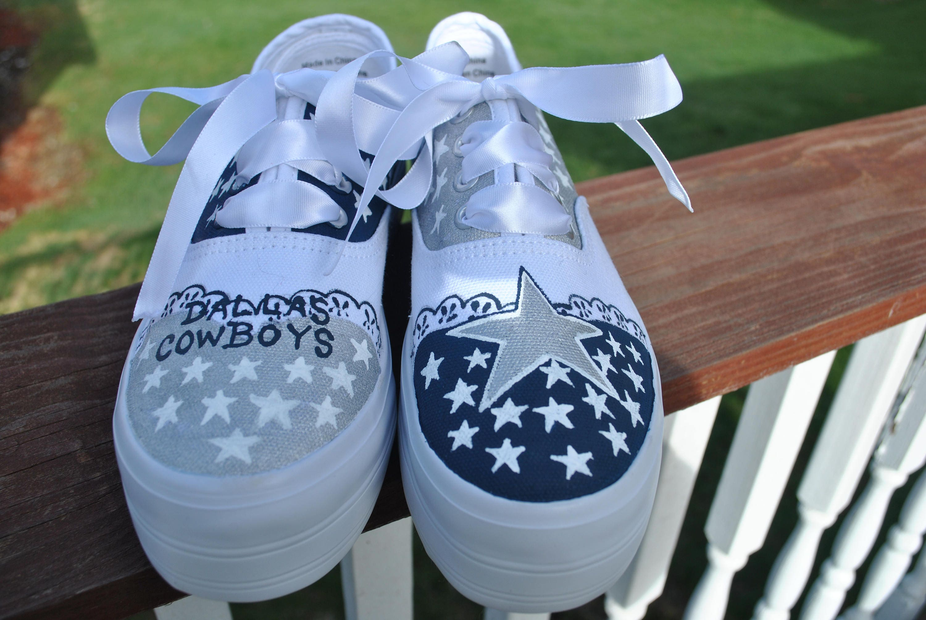 b06e2bcba675 FOR SALE Custom Hand Painted Dallas Cowboys size 7 platform