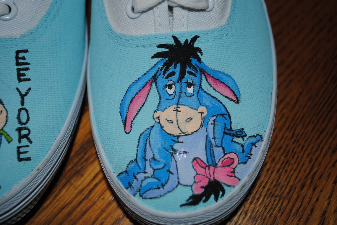 Nuevo personalizado pintado a mano de Eeyore no venta vendida--sólo para exhibición de zapatos