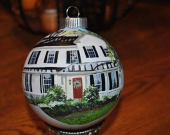 Custom Hand painted home ornament done from picture with personalized - sold