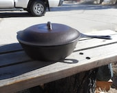 Cast Iron Lodge Chicken Fryer or Dutch Oven Marked 8