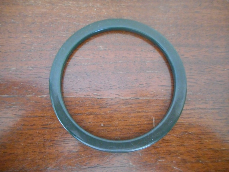 Bakelite Bracelet Teal Dark Green