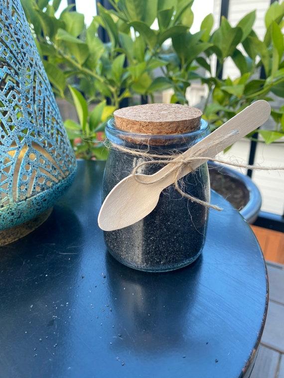 Coconut Scented Natural Detoxifying Hawaiian Black Lava Bath Salts 7 ounces