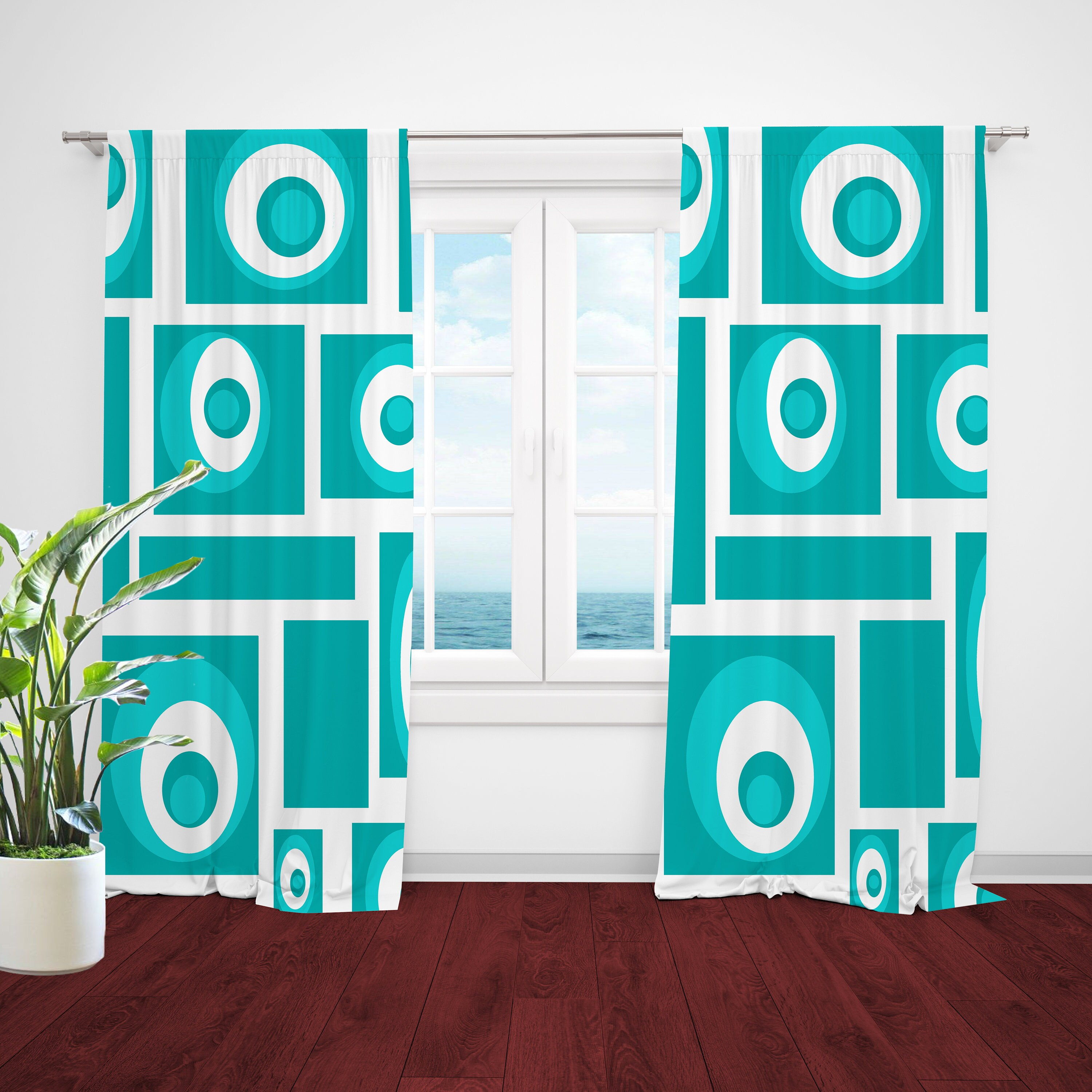 Picture of: Mid Century Modern Curtains Custom Curtain Panels Retro Etsy