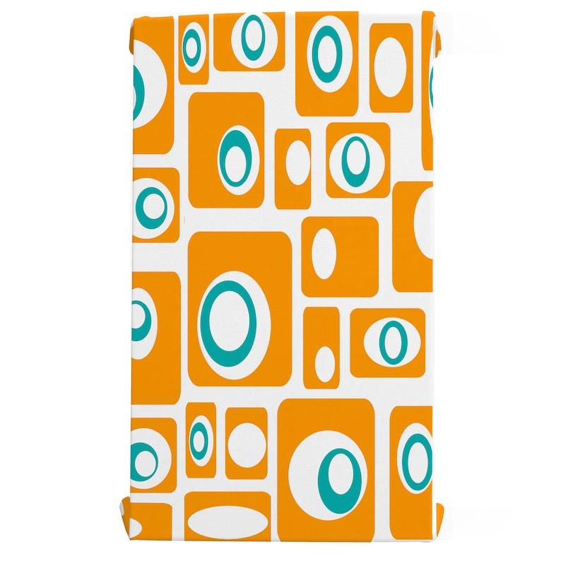 Orange  Table cloth Mid Century Modern Tablecloth Summer Tablecloth
