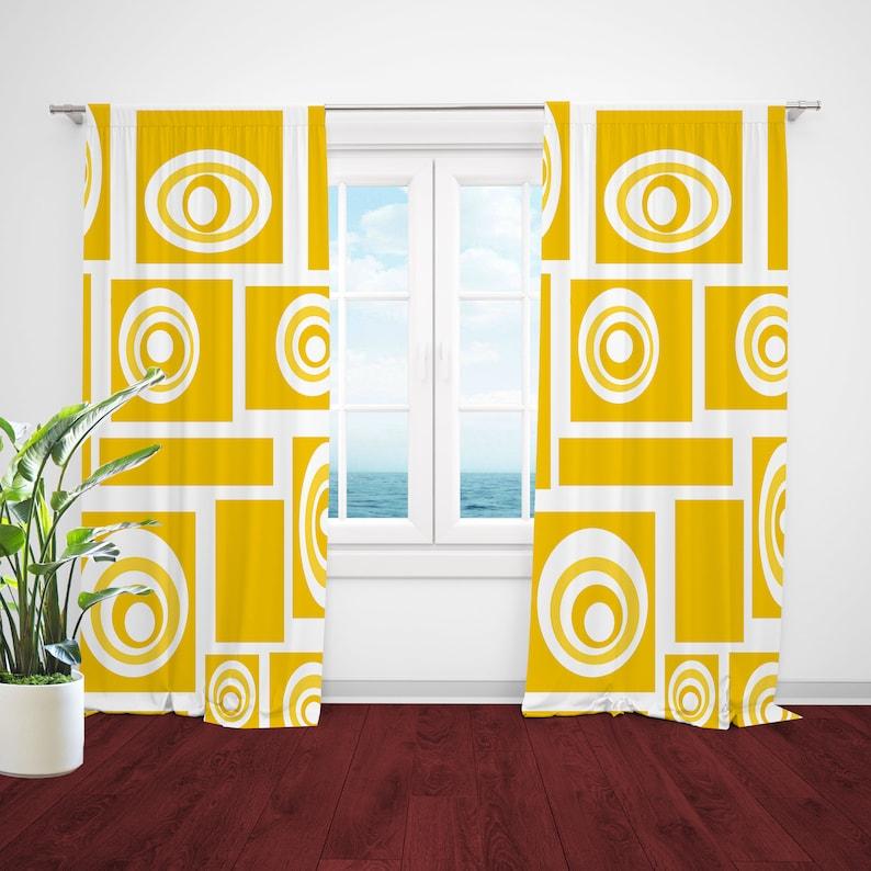 Mid Century Modern Curtains Retro Curtain Panels Modern Drapery Panels Retro Window Curtains Mid Century Curtains