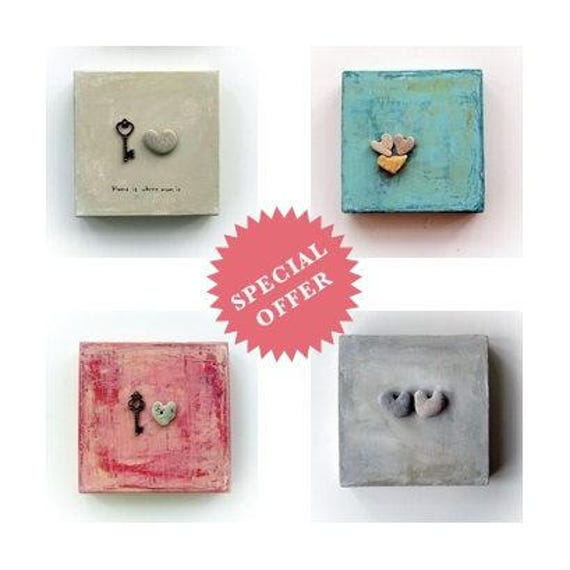 4 pieces set Button Heart shaped