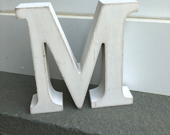 WOOD LEtTeRs Shabby Chic Letters 5 1 4 STanD ALoNE LETTERs HOME AND GarDEN DECOr