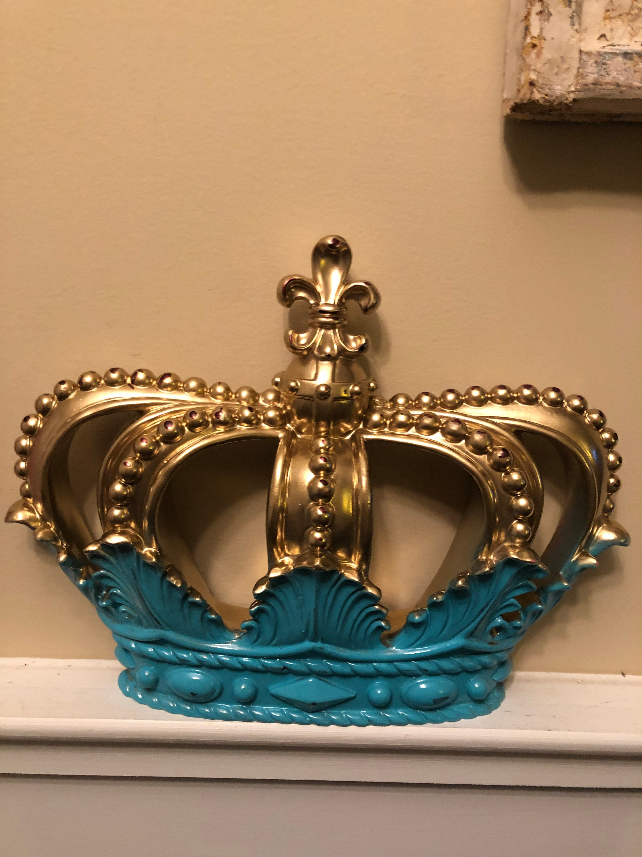 CrownSilver Wall Decor Shabby Chic Decor Home and Garden DecorSilver Crown Decor Bedroom Decor