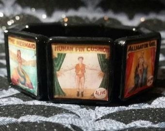 Sideshow freak show  inspired bracelet