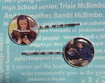 Rory and Jess gilmore girls inspired hair clips