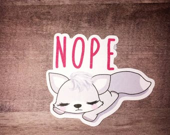 Finn says nope die cut - fox die cut - nope die cut - planner die cut