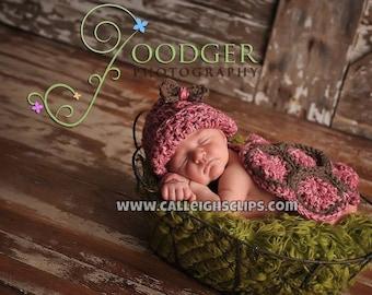 Rose Pink The Original Hatchling Turtle Cuddle Critter Cape Set Newborn Photography Prop