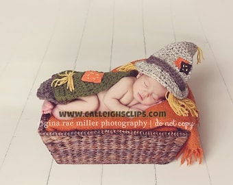 Patches the Scarecrow- Hat and Cape included  0-3, 3-6 months